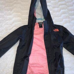 North face kid girl rain jacket xsmall 6-8
